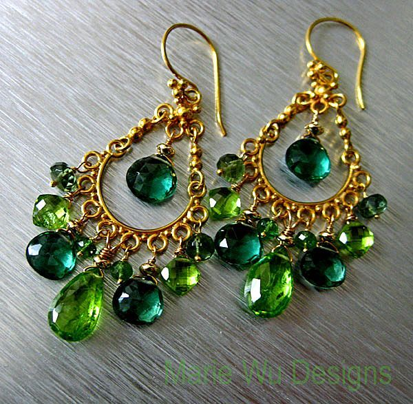 Spring chandeliers peridot tsavorite green apatite green amethyst spring chandeliers peridot tsavorite green apatite green amethyst vermeil chandelier earrings mozeypictures Choice Image