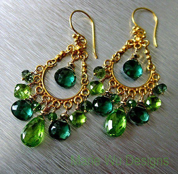 Spring chandeliers peridot tsavorite green apatite green amethyst spring chandeliers peridot tsavorite green apatite green amethyst vermeil chandelier earrings mozeypictures Gallery