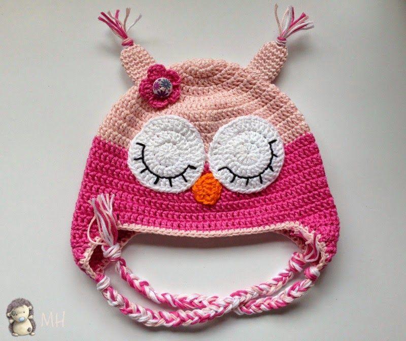 gorrito rosa búho a crochet | gorros | Pinterest | Rosas, Gorros y Buos