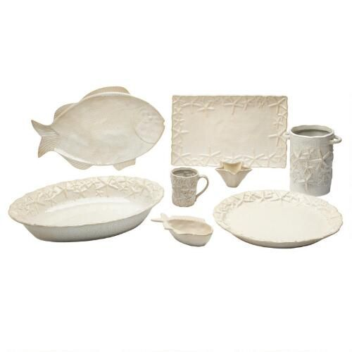 One of my favorite discoveries at ChristmasTreeShops.com: Cream Ceramic Coastal Serveware Collection