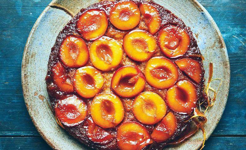 faisa hayani bellili s caramelized plum upside down cake with images plum upside down cake plum recipes plum recipes cake pinterest
