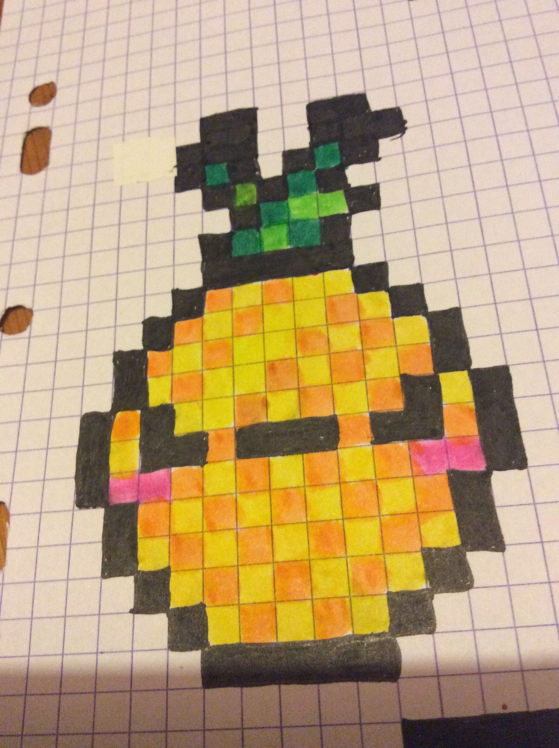 Pixel Art Ananas Pixel Art Ananas Pixel Art Et Dessin