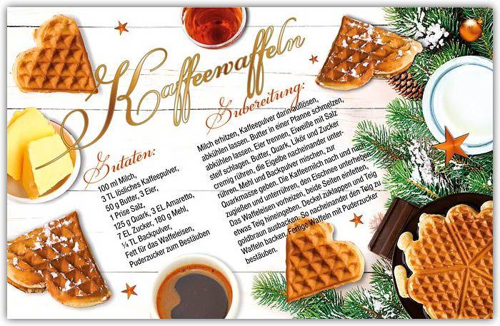 Weihnachtskarten Mit Duft.Kaffeewaffeln Rezeptkarte Als Weihnachtskarte Mit Duft Rezept