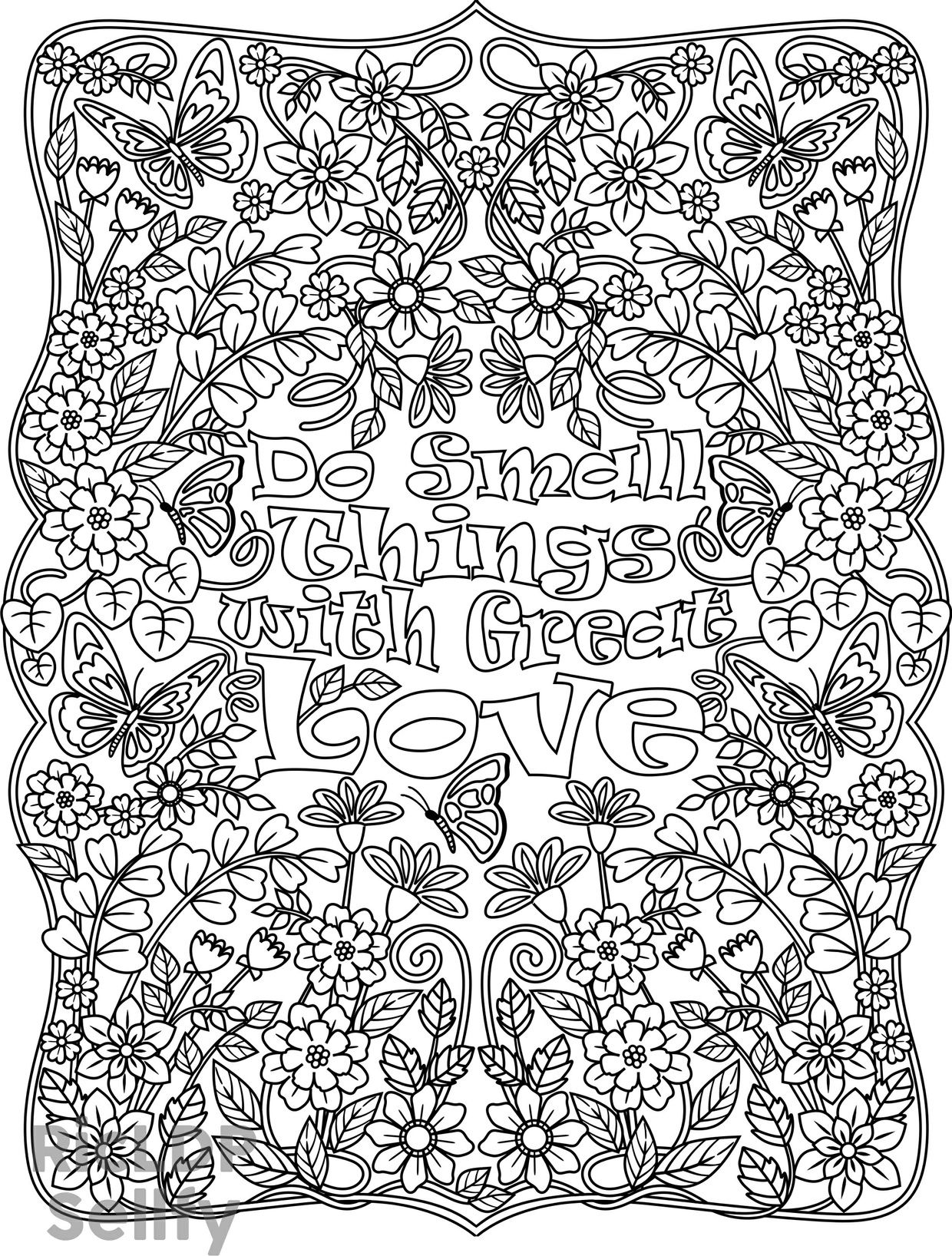 do small things with great love coloring page for adults k