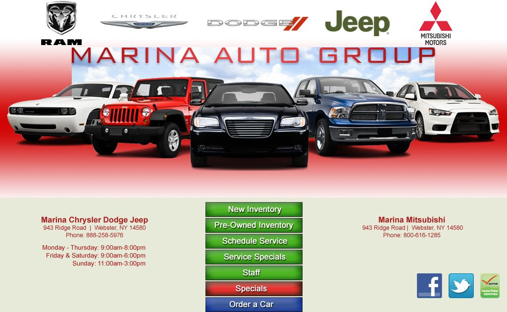 Marina Will Beat Any Deal In Rochester Ny Come See Dave Gambino I Ll Make You An Offer Chrysler Dodge Jeep Chrysler Mitsubishi