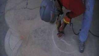 Concrete Engraving & Template Transfer, via YouTube.