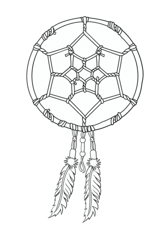 Native American Dreamcatcher Coloring Page Free Printable Coloring Pages Dream Catcher Coloring Pages Dream Catcher Native American Coloring Pages