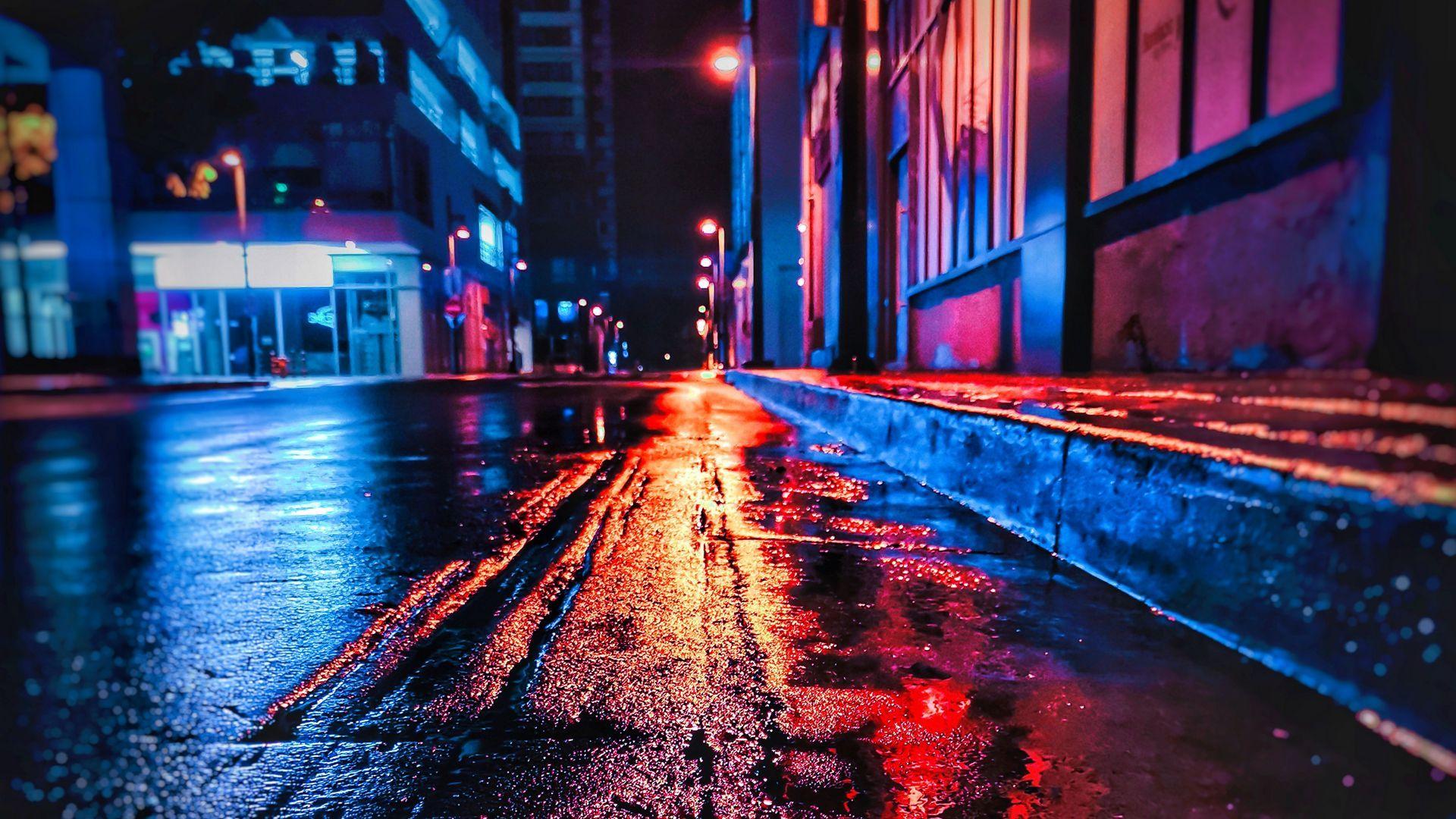 Street Neon Wallpaper Desktop Background Pictures City Wallpaper