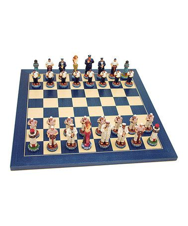Take a look at this Nautical Chess Set by Wood Expressions on #zulily today!
