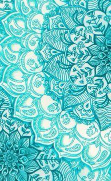 Mandala Verde Agua Fondo Phone Backgrounds Mandala Y Wallpaper