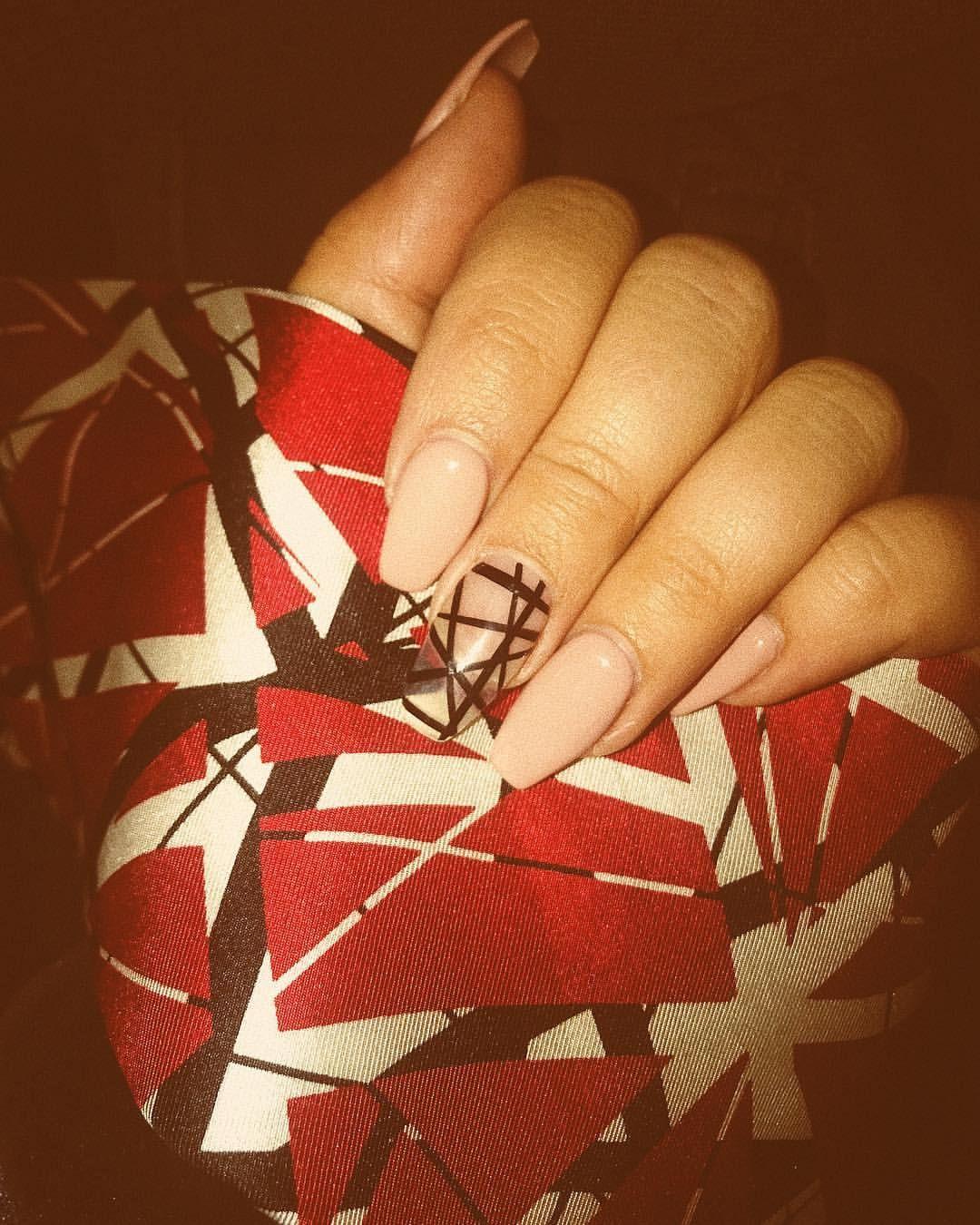 Eddie Van Halen Inspired Nails By Lotus Beauty In Cincy Oh Van Halen Eddie Van Halen Rock N Roll