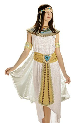 6fc6888f3364b Adult Women Cleopatra Nefertiti Nile Queen Costume Cosplay & Role Play Dress  Up (Medium/Large, White, Gold, Blue, Red, Green) *** Check out this great  ...