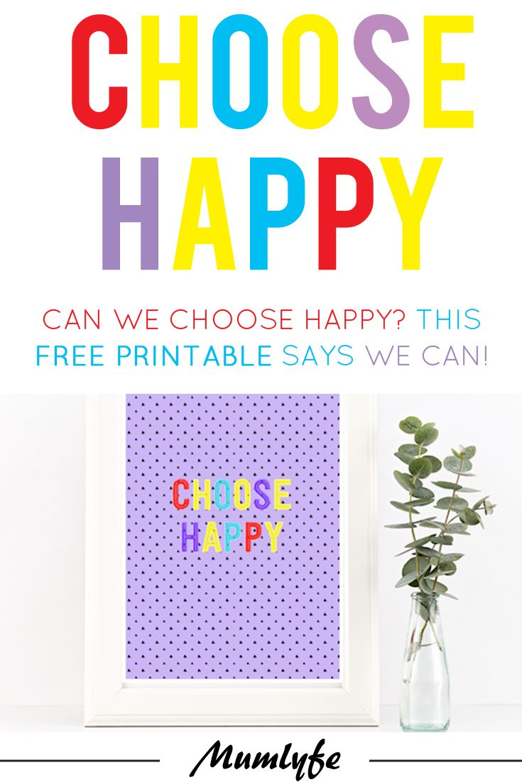 Can you actually choose happy? (Some thoughts and a