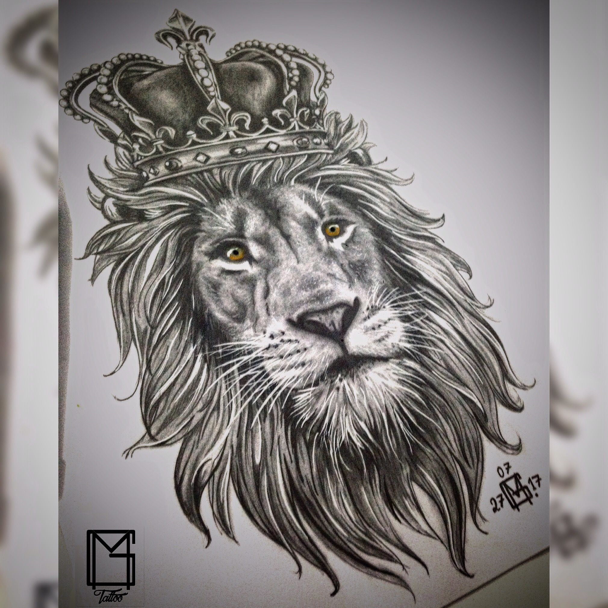 lion crown tattoo le227o com coroa tatuagem bng tattoo