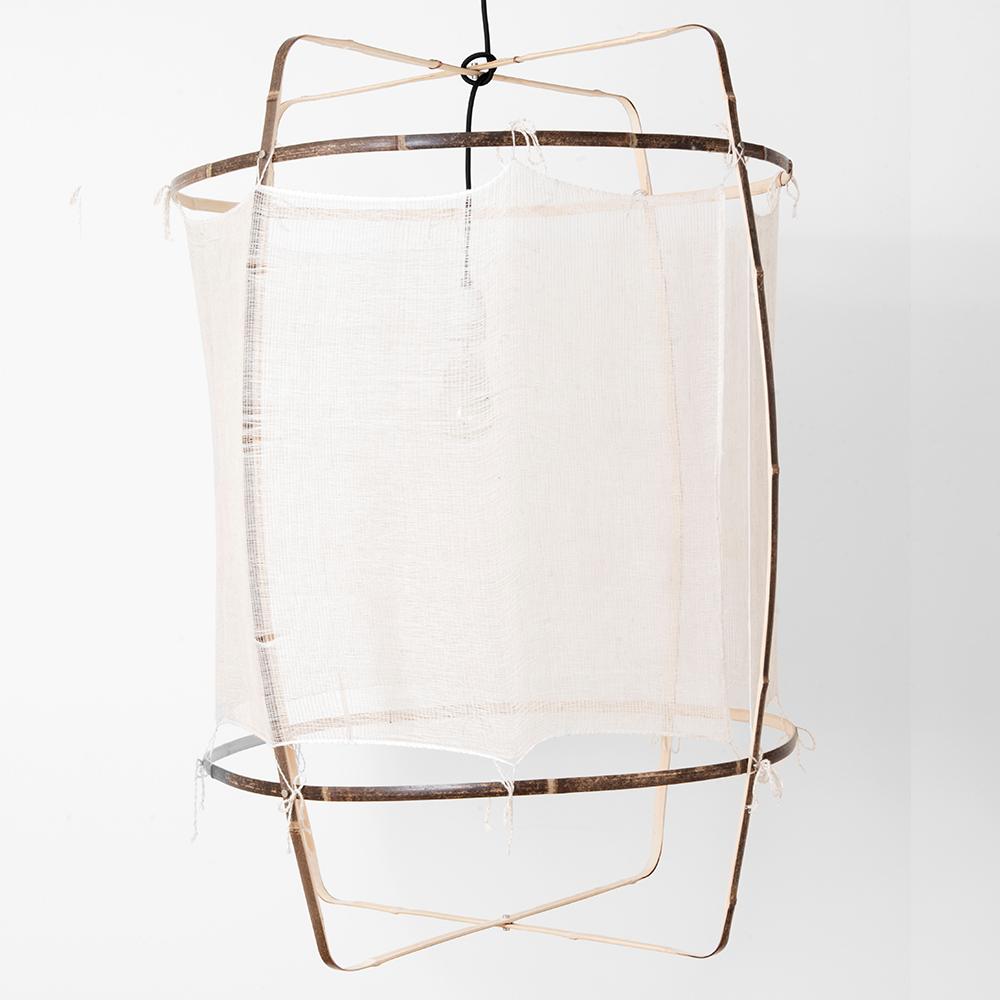 Z1 Silk Cashmere Lamp Bambuslampe Dunkel Mit Seiden Kaschmir Bezug