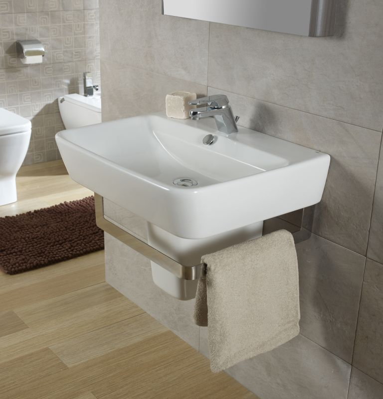 Bissonnet 27000 27432 Emma 21 7 10 Semi Pedestal Bathroom Sink