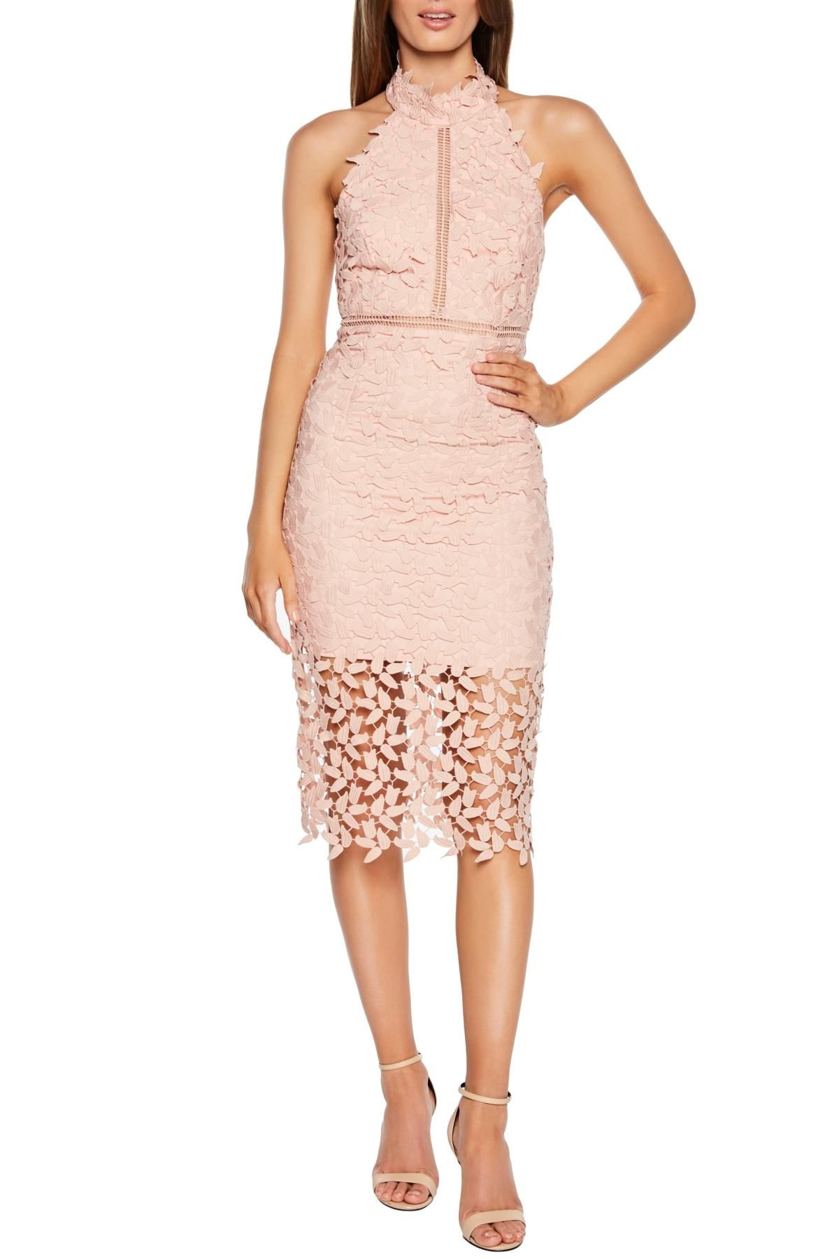 dcae386e Bardot - Gemma Halter Lace Sheath Dress is now 50% off. Free Shipping on  orders over $100.