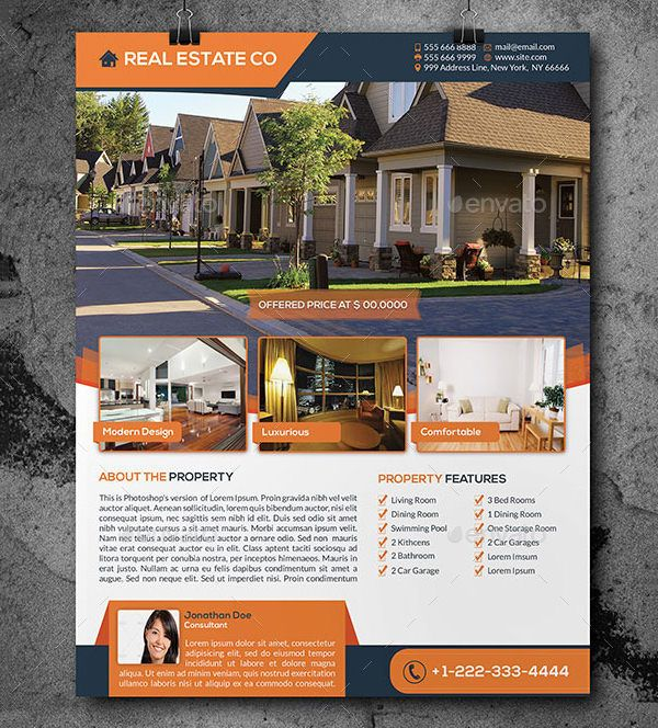 Property Dealers And Brokers Can Give Their Business More Visibility - Real estate photography flyer templates