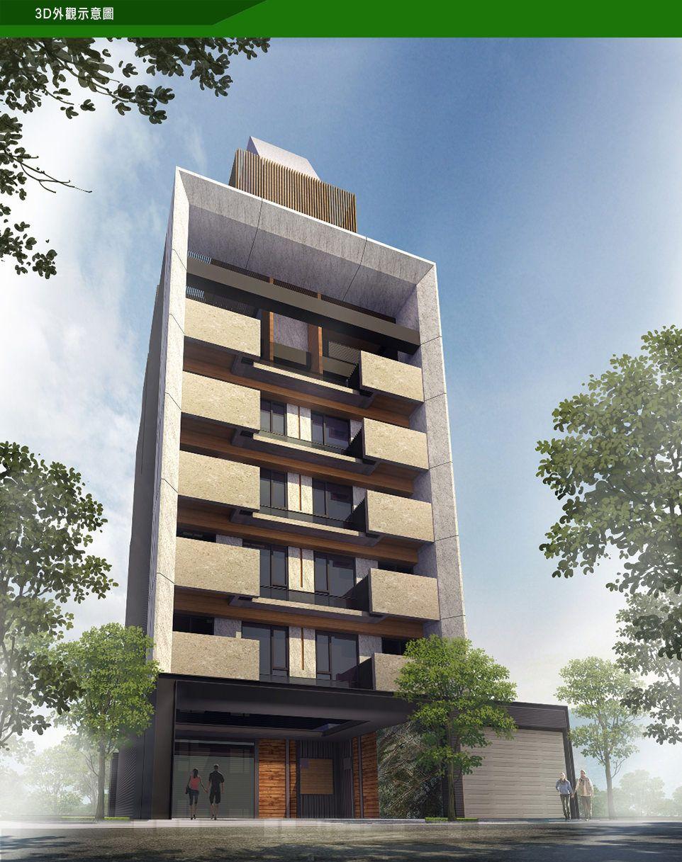 Arquitectura pinterest edificios fachadas y for Maquetas de apartamentos modernos