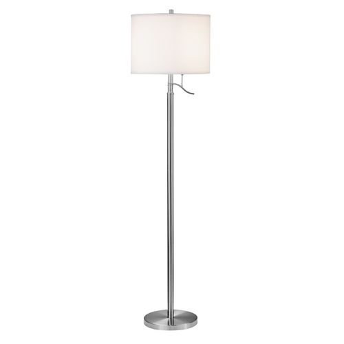 Modern satin nickel floor lamp shade not included at destination lighting