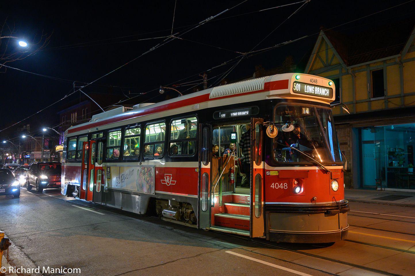 Toronto Clrv Streetcars Toronto Ontario Old Toronto Toronto Canada Toronto tram vehicle city night lights