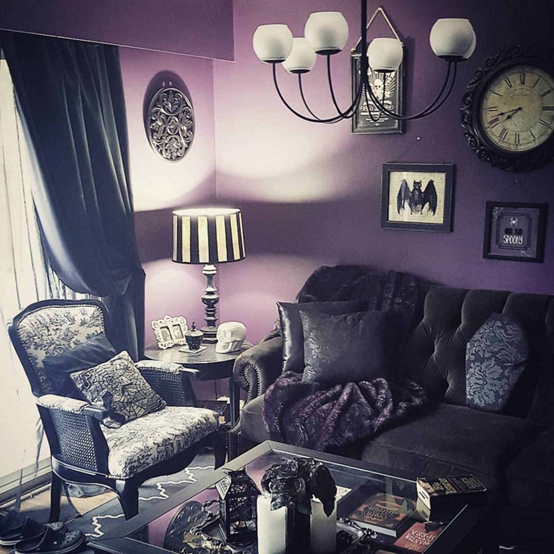 25+ Incredible Gothic Living Room Design Decor Ideas for ...