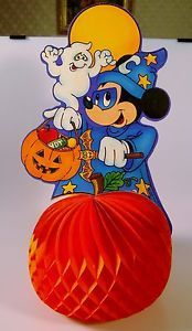 vintage halloween 17 mickey wizard honeycomb tissue centerpiece decoration ebay