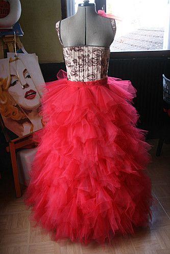 55b52d5a6e726b tuto: réaliser une jupe en mouchoirs de tulle | costumes | Diy robe ...