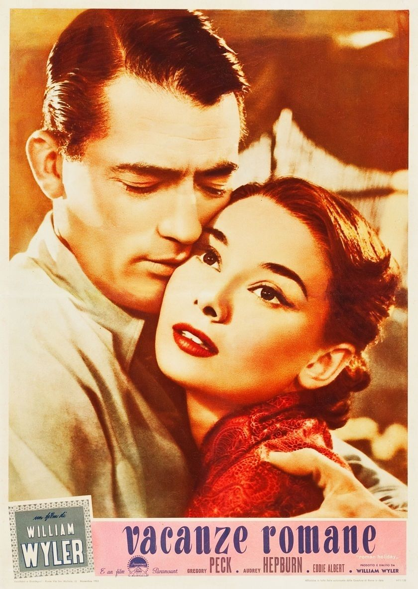 An Italian poster for William Wyler's 1953 romance ROMAN HOLIDAY. (Source: ha.com)