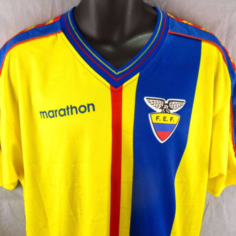 Ecuador Marathon Soccer Jersey L Adult Large Yellow Futbol
