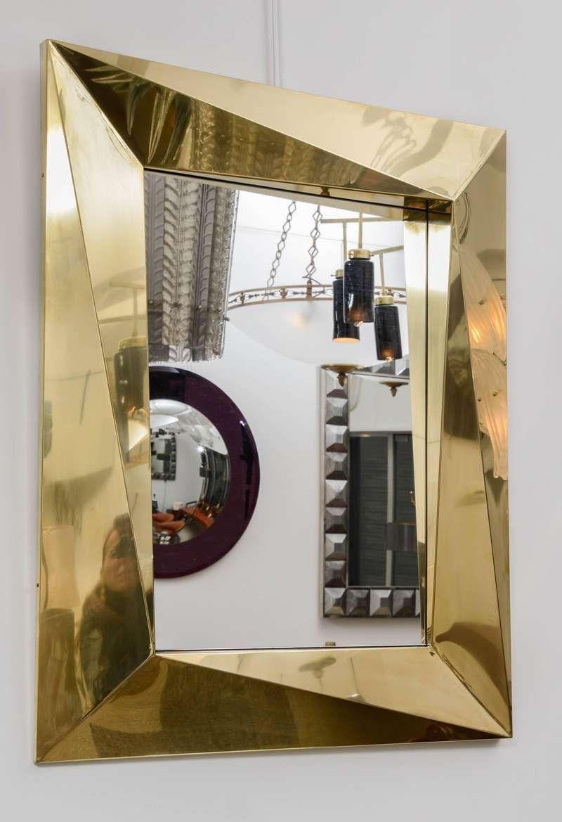 Fantastic Polished Brass Mirror In 2020 Brass Mirror Modern Mirror Wall Mirror Design Wall