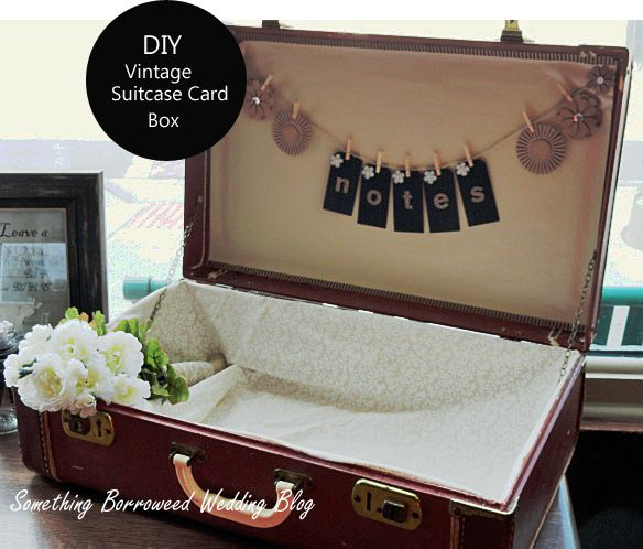 Diy Rustic Wedding Accessories Crafts Repurposing Upcycling I Picked Up An Old Suitcase From Antique Store In Very Rough Shape And Fixed It With
