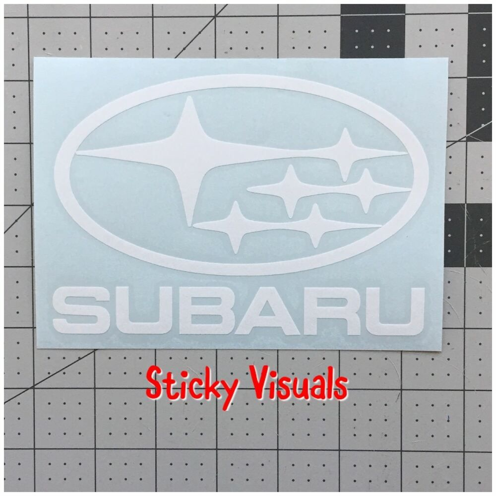 Subaru Lettering And Car Logo Decal Sticker Gloss Vinyl U Pic Color Stickyvisuals Custom Vinyl Decal Car Logos Car Decals Stickers