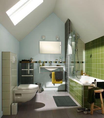 salle de bains partiellement carrel e leroy merlin sdb pinterest salle de bain salle et. Black Bedroom Furniture Sets. Home Design Ideas