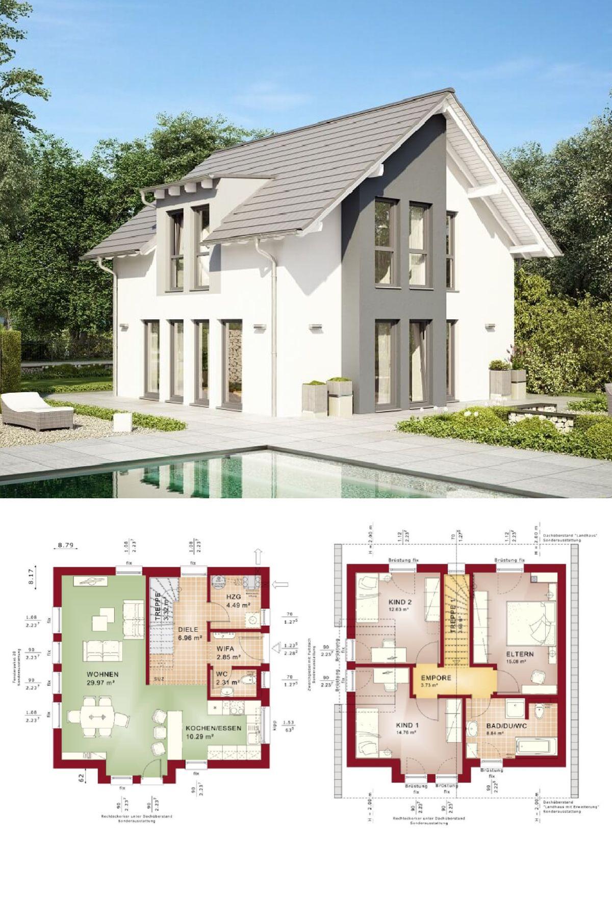 Einfamilienhaus klassisch mit satteldach architektur for Architektur klassisch