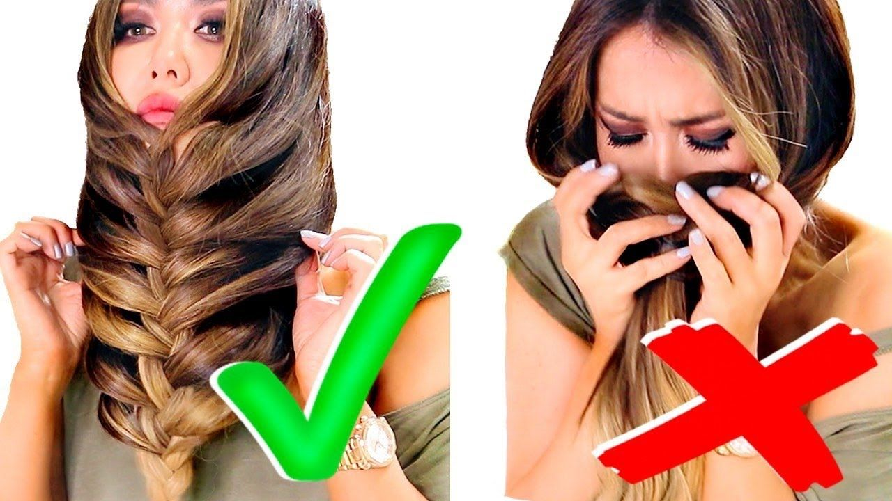 TOP 5 ★ ALL TIME BEST HACKS of 2016 for GIRLS ★ AMAZING HAIRSTYLES, Bra... | Cool braid ...