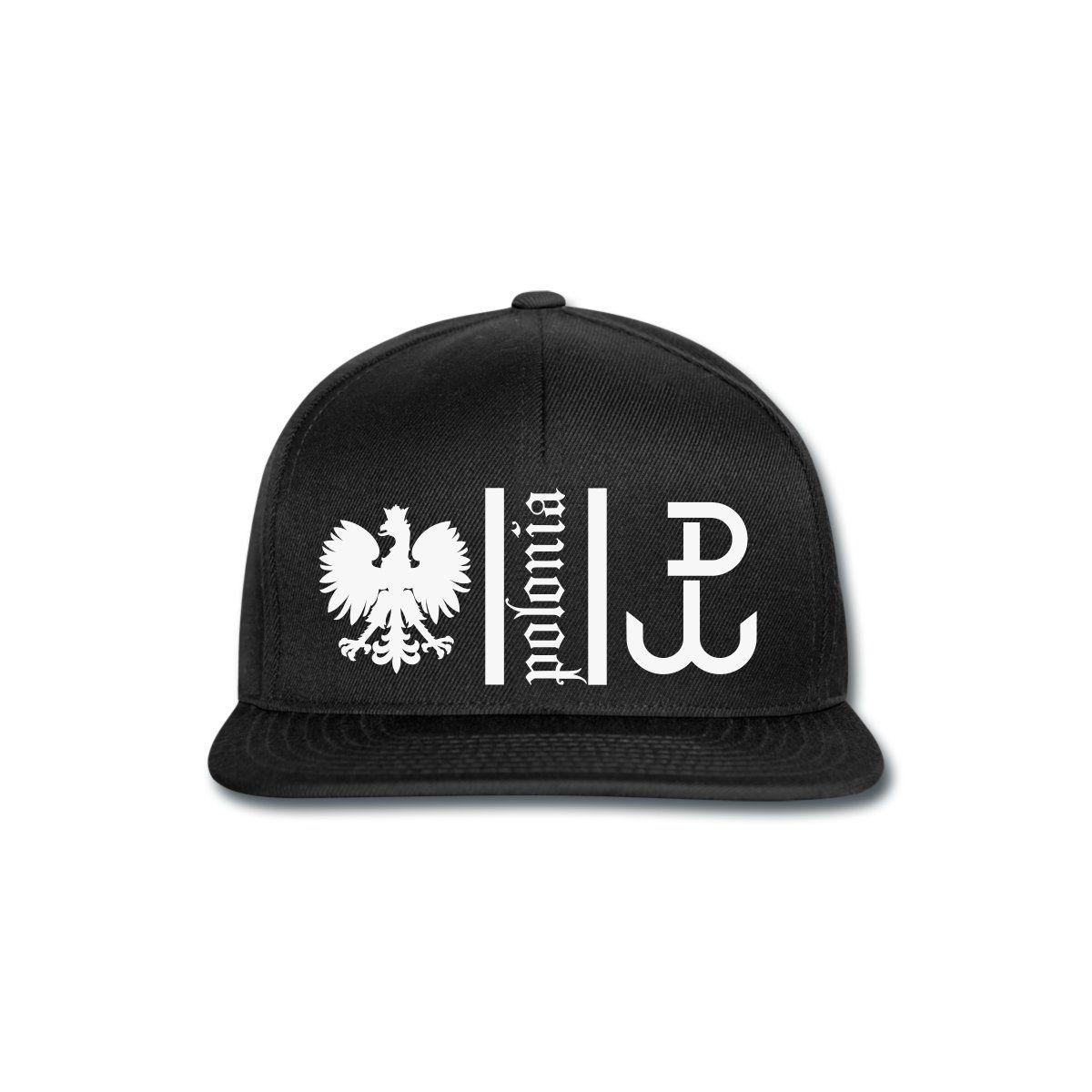 Polonia Cap Black [*Weiß Glitzer*] - Snapback Cap