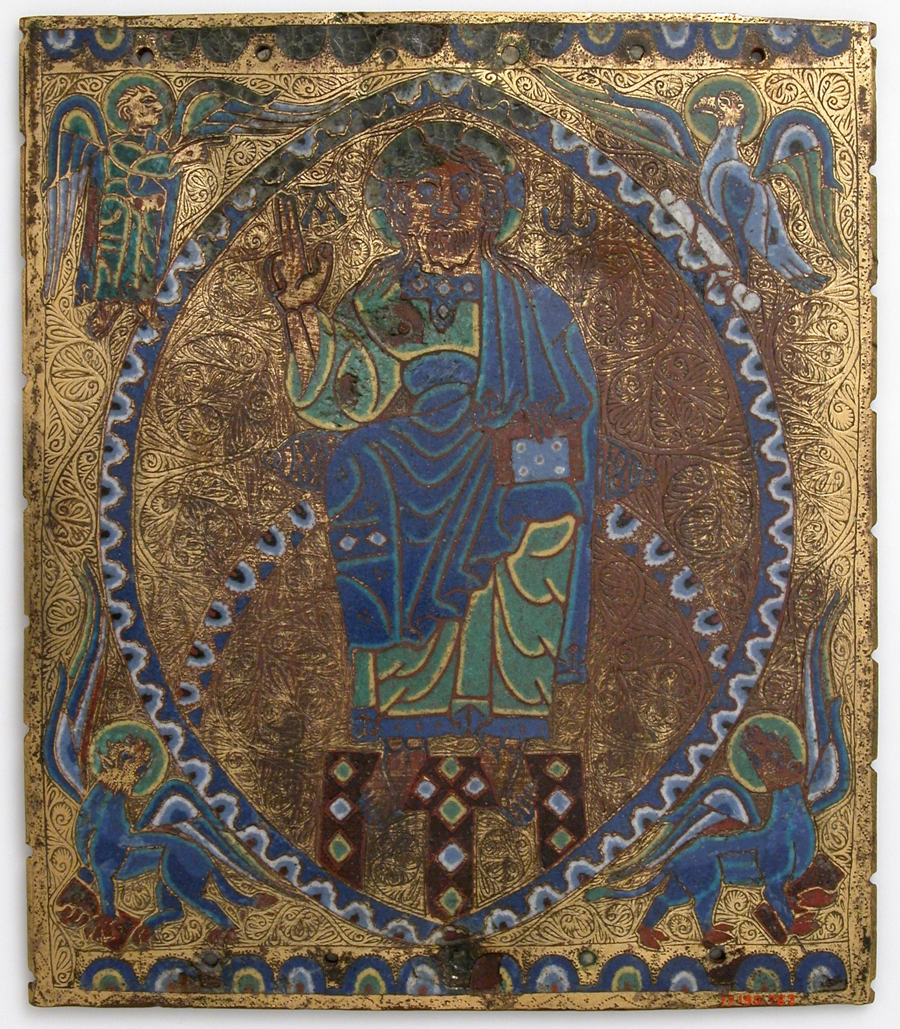 Plaque of Christ in Majesty Date 12th13th century