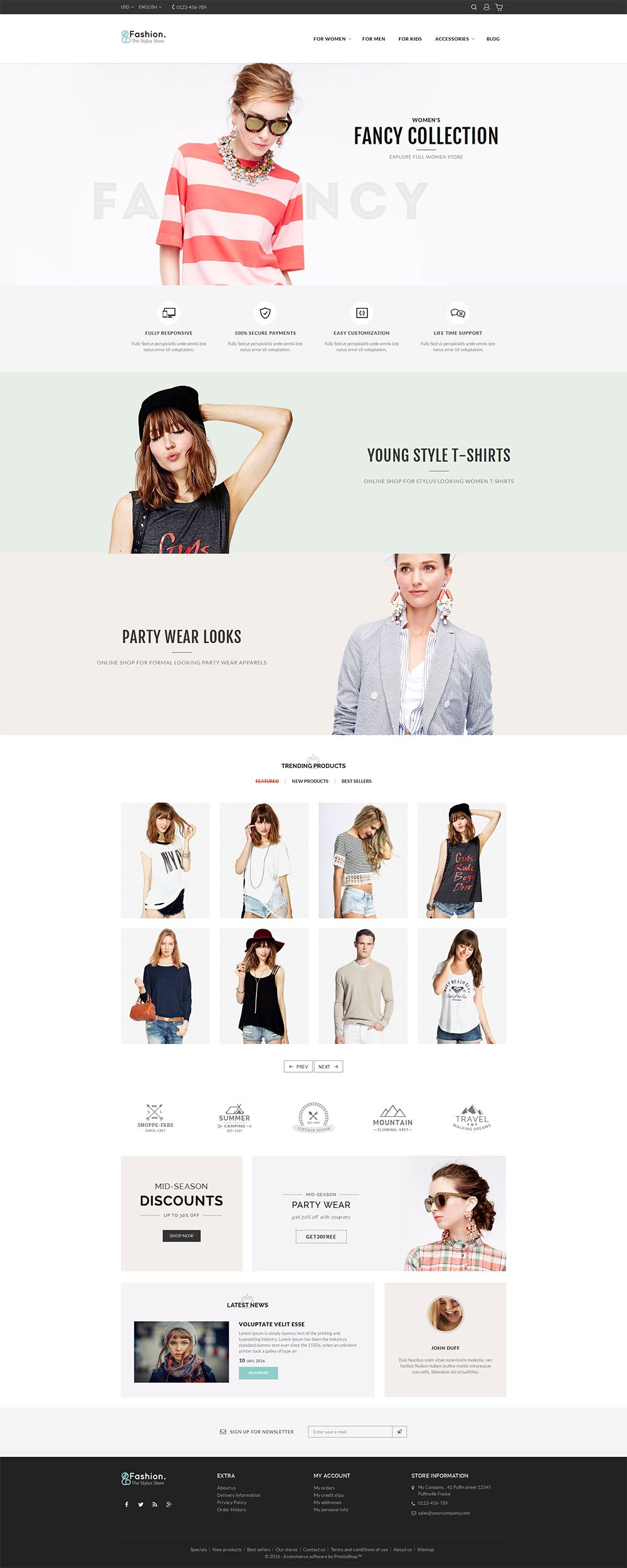 Fashion Store Ecommerce Web Design Web Design Tips Responsive Theme
