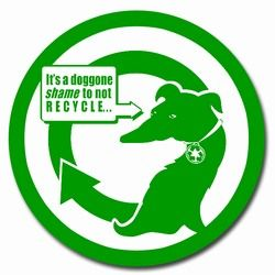 """rd019 - Recycling Decal 5"""" CLEAR, Recycling Stickers, Butt-cut Recycling Labels, Vinyl Recycling Decals, Vinyl Recycling Labels, Vinyl Recycling Stickers"""