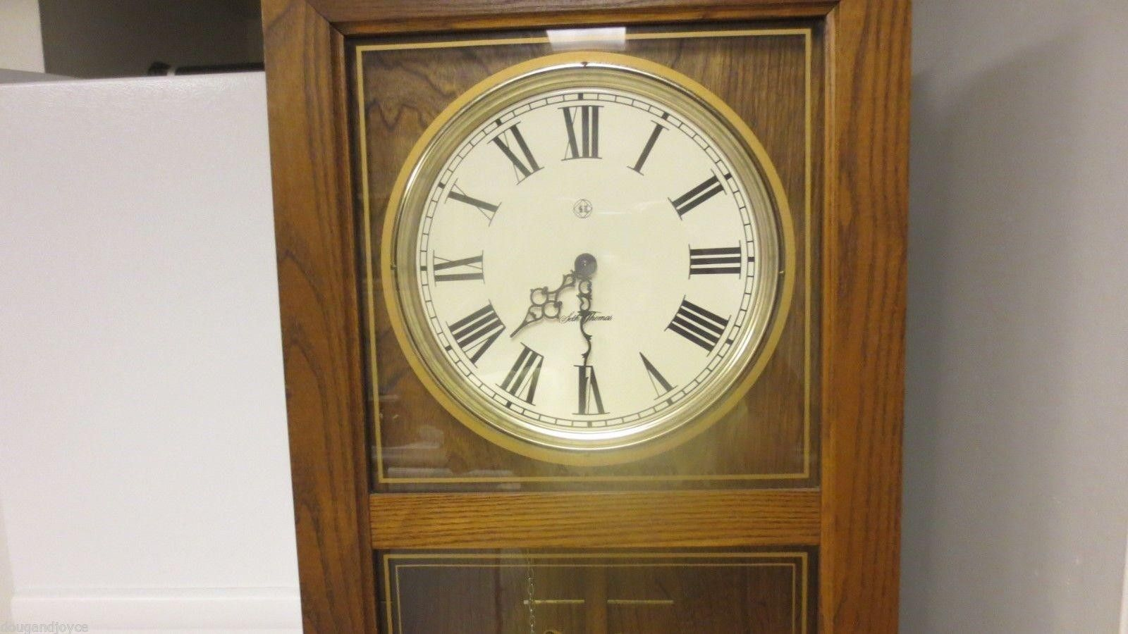 34 seth thomas marked regulator weight driven wood pendulum wall 34 seth thomas marked regulator weight driven wood pendulum wall clock days amipublicfo Choice Image