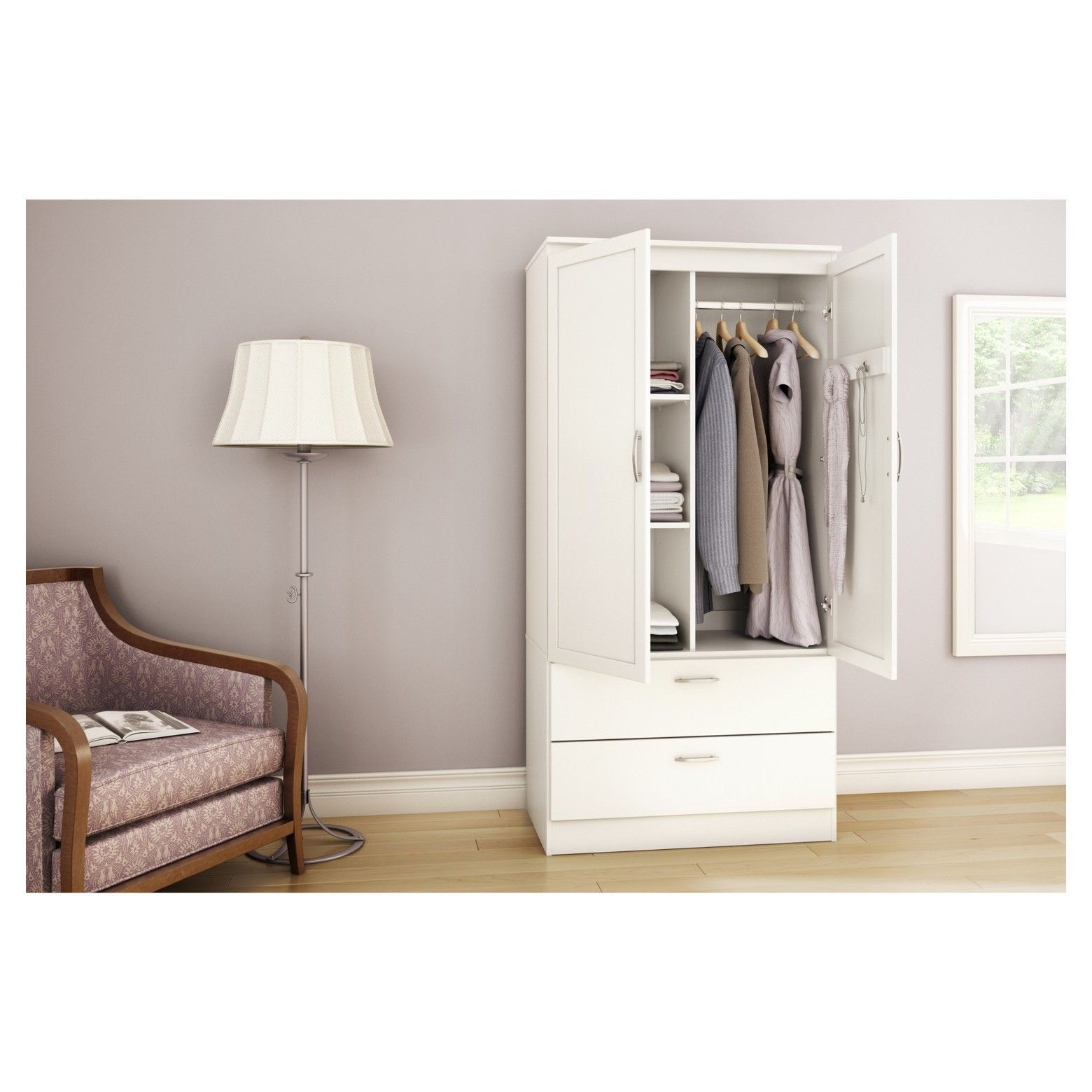 Awesome south Shore Acapella Wardrobe Armoire