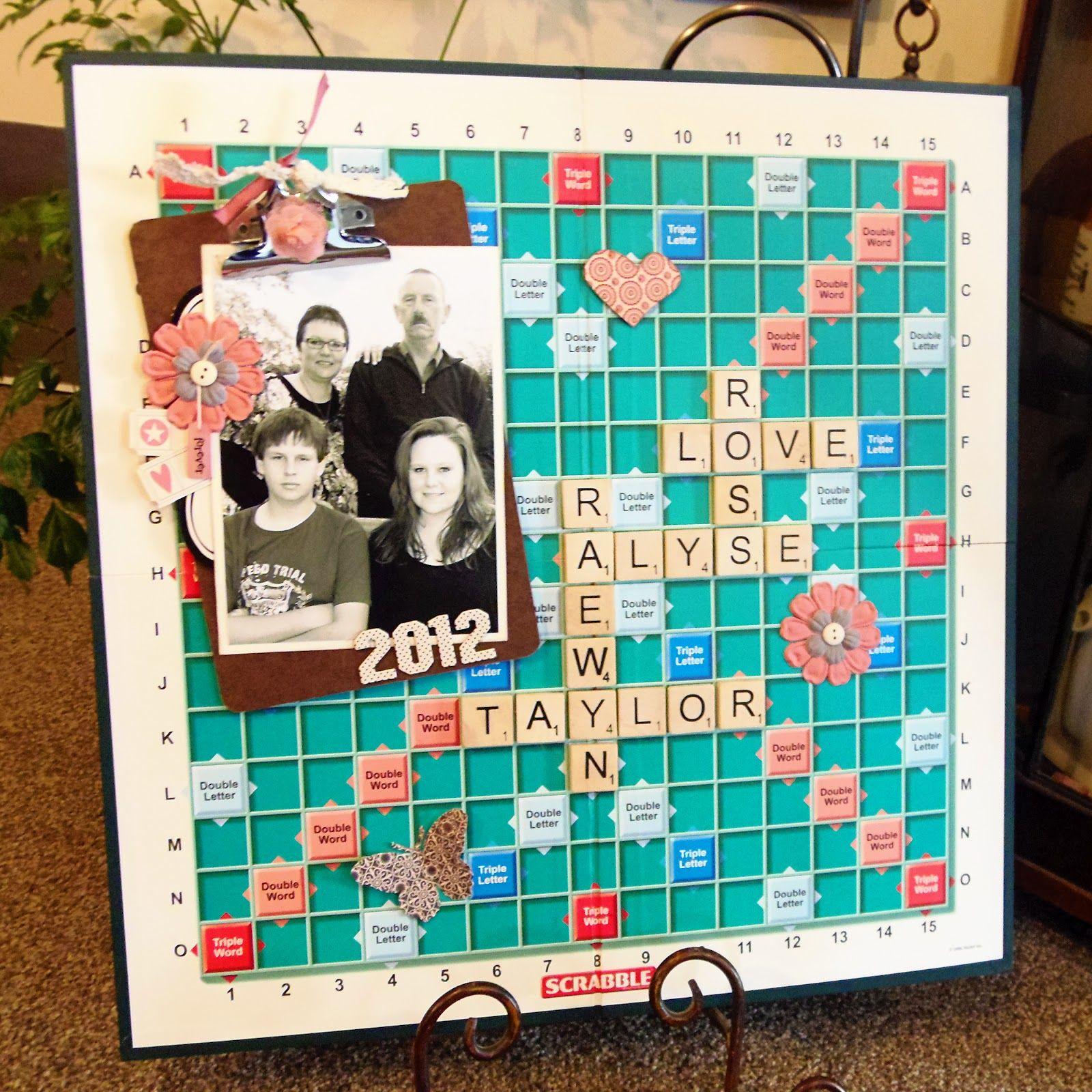 Large Print scrabble board artwork Scrabble board