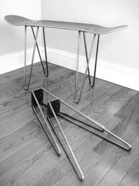Hairpin Legs Skateboard Legs Could Use To Make A Console Table