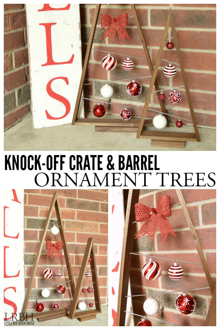 Knock-off Crate & Barrel Ornament Trees ...