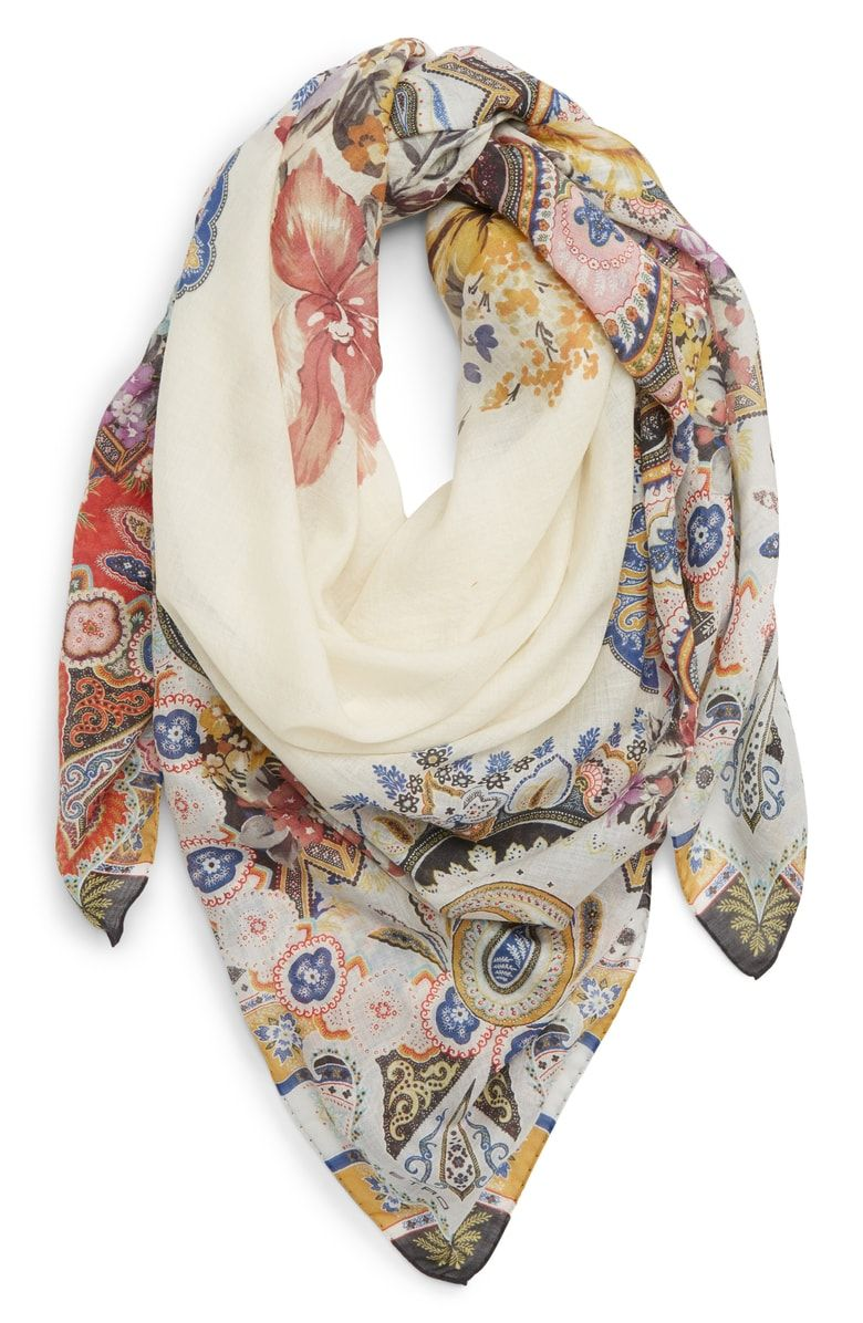 4b7d7cd50 Free shipping and returns on Etro Bombay Square Wool & Silk Scarf at  Nordstrom.com. A bold floral-and-paisley print and eye-popping color make  this luxe ...