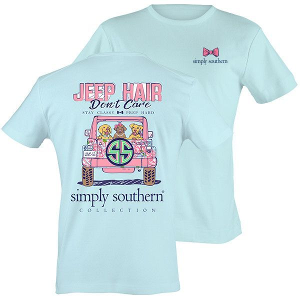 9198d189191 Simply Southern Preppy Jeep Hair Don t Care T-Shirt Available in sizes-  Adult…