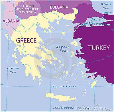 greece turkey albania bulgaria fyrom map