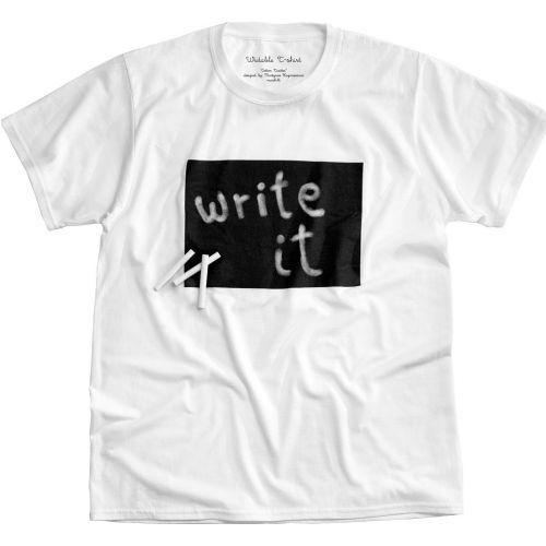 T-shirt Twitter personnalisable à la craie | ideecadeau.ch