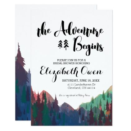 33e89101c508  bridal -  Bridal Shower Invitation - Mountain Theme
